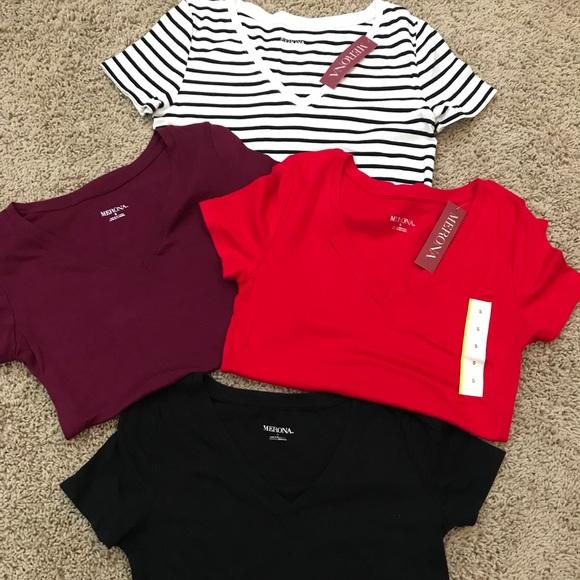 8baedc6e6e Women's Lot Of 4 Merona T Shirts NWT